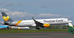G-TCDN THOMAS COOK AIRBUS A321 NEWCASTLE AIRPORT (toowoomba surfer) Tags: jet aeroplane airline airliner aviation aircraft ncl