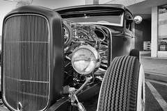 Hot Rod (Photos By Clark) Tags: california canon2470 unitedstates location northamerica canon5div locale places where escondido us hotrod streetrod restored converted bw car custom