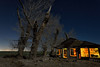 fresh apple pie. mojave desert, ca. 2018. (eyetwist) Tags: eyetwistkevinballuff eyetwist night abandoned ruins farmhouse mojavedesert antelopevalley nikon nikond7000 d7000 nikkor capturenx2 1024mmf3545g 1024mm lightpainting protomachines fullmoon dark longexposure moonlight npy nocturne highdesert california mojave desert moon long exposure wideangle light painting horizon forgotten ruin lancaster decay house shack wood crumbling architecture peeling faded weathered clouds stars urbex alfalfa farm sky clapboard saturated av antelope valley green homestead cottonwood tree shattered limbs winter startrails airplane streak landscape