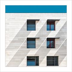 Diagonals / Diagonal. (ximo rosell) Tags: ximorosell composició color valencia ventana fachadas façanes finestra llum luz light llums squares spain nikon buildings arquitectura architecture abstract abstracció