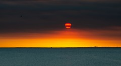 Jupiter came a little too close today (Steve Paxton WA) Tags: sea smoke sunset colours sky ocean bird
