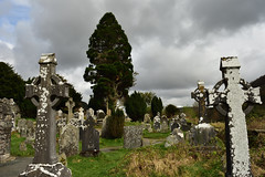 DSC_0290_00001 (Marcello Guarino) Tags: glendalough monastery cemetery wicklow ireland tower trees nature grave stone cross ruins eire ulster landscape