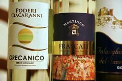 GRECANICO FRASCATI FALANGHINA (cariatide44) Tags: vino wine grecanico frascati falanghina lazio sicilia campania