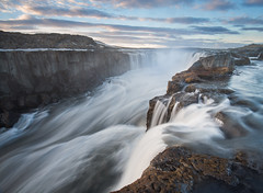 Selfoss (Uldis K) Tags: selfoss waterfall longexposure river morninglight iceland detifoss