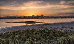 Receding tide (Through Bri`s Lens) Tags: sussex shorehambysea riveradur hightide tide weed shorehamtollbridge lancingcollege sunsetreflections brianspicer canon5dmk3 canon1635f4 lee09softgrad leelittlestopper