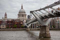 Millennium Bridge and St. Paul's Cathedral (SpokenShutter.com) Tags: millenniumbridge stpaulscathedral bridge cathedral st pauls