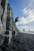 Over the Black (JeffMoreau) Tags: vik iceland midair jump jeff reynisfjara black sand beach sony a7ii zeiss 16mm basalt columns