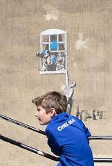 Bristol - Banksy (lyndakmorris) Tags: bristol lyndamorrislrpscpagbpe1 banksy