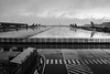 Not a very nice day for traveling (Petr Horak) Tags: bw weather rain rainy aircraft runway wet water x100t fujifilm crossing monochrome