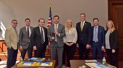 Heinrich Receives Solar Champion Award, May 23, 2018
