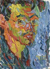 Karl Schmidt-Rottluf (seewhatyoumean) Tags: karl schmidtrottluff 18841976 selfportrait 1906 oil canvas 44 x 32 cm stiftung seebüll ada und emil nolde