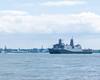 USS Arlington (brianloganphoto) Tags: fleetweek harbor ship warship clouds northamerica newyorkcity regions hudsonriver newyork usnavy unitedstates water day sea jerseycity newjersey us