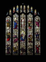 Jesse tree window (badger_beard) Tags: jesse tree window st mary virgin church linton cambs cambridgeshire cambridge haverhill south stained glass 19th century east burlison grylls