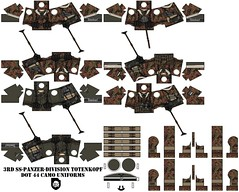 3rd SS-Panzer-division Totenkopf (Desert fox Customs) Tags: ww2 wwii totenkopf panzerdivision lego decals custom dot44 camo