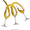 Ménage à trois (Yves Kéroack) Tags: vin midair hautevitesse splash verre coulis whitebackground alcool liquide highspeedphotography motion pouring mouvement floating glasses whitewine lévitation liquid