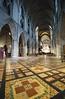 18FEB26 SLYNNLEE-5999 (Suni Lynn Lee) Tags: dublin saintpatrickscathedral stpatrick saint patrick cathedral gothic patchwork orange colorful pattern catholic church floor tile nave geometric