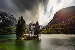 Lago del Predil, Italy (Markus Ortner) Tags: italy landscape water lake reflection badweather clouds storm sonya7 sigma15303545 longexposure