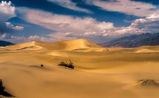 Mesquite Flat Sand Dunes Gathering Thunder Storm! Death Valley National Park Fine Art Landscape  Photography! High Resolution California Desert Landscape Photos! Dr. Elliot McGucken High Res American West Landscape & Nature Fine Art