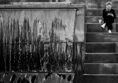 City waterfall (MortenTellefsen) Tags: 2018 gatefoto april waterfall water city canon girl steps stairs trapper foss monochrome street svarthvitt streetphoto streetlife bw blackandwhite blackandwhiteonly bergen norway