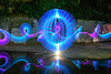 Concentrated Orb (stephenk1977) Tags: australia queensland qld brisbane nikon d3300 alderley enoggera sandycreek floodway orb light painting trail sword concentrate c5 threeworlds rgb reflection night
