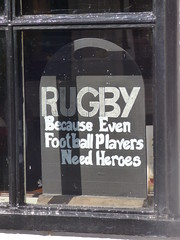 Rugby Because Even Footballers Need Heroes Chalkboard Ely May 2018 (symonmreynolds) Tags: rugbybecauseevenfootballersneedheroes chalkboard ely may 2018