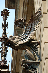 sphinx lantern (ikarusmedia) Tags: lantern sculpture architecture wings mithology munal mexico city historical center museum downtown