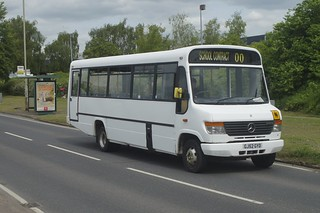 Step up: Acme Transport (ex Galloway) Mercedes Benz O814D/Plaxton Beaver GJ52GYD Stansted Road Bishops Stortford 11/05/18