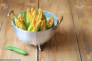 Fiori di zucca e zucchinette