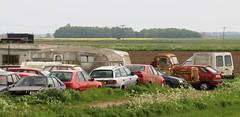 Idyllic fenland scene (1) (Nivek.Old.Gold) Tags: alfa romeo 155 citroen zx bx xantia estate french lorry fuel domestique fiat fiorino van p482vwx