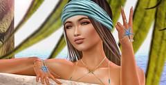 ♚ 561 ♚ (Luxury Dolls) Tags: astralia kustom9 summer stars starfish blue style store sexy shot shape new moon moonhair bento blog blogger body fashion head catwa headshot mesh maitreya
