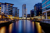 Clarence Dock at Night (CEWWtyke) Tags: clarence dock leeds wharf water river aire liverpool canal industrial heritage cityscape night photography hdr historical offices hotels restaurants flats apartments sky blue hour reflections lights buildings architecture basin building city outdoor landscape long exposure longexposure