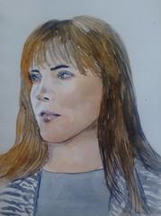 Emma Healey (Utopist) Tags: watercolour watercolor portrait emma healey writer author women