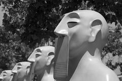 Our Silences (AAcerbo) Tags: oursilences josérivelinomorenovalle artinstallation publicart statues sculpture sanfrancisco california embarcadero bw
