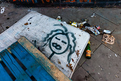In Bed (justingreen19) Tags: inbed london shoreditch street streetcleaning asleep city clearing dumped graffiti household justingreen19 latenight oldmattress packingcrate paper pavement recycle recycling rubbish sleep streetart urban waste wastepaper woodenpallet 1635mm canon urbanart
