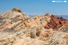Rock Formations At Edge Of Fire Canyon (freshairphoto) Tags: valleyoffire state park red fire blue cloud overton nevada artspearing nikon d500 18200 zoom handheld