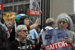 traitor (greenelent) Tags: notrump protest demonstration riseandresist streets people activists nyc newyork