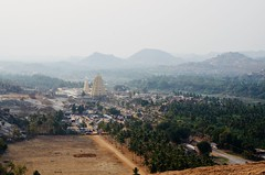Hampi in India (Sandrine Vivès-Rotger photography) Tags: hampi india history landscape temple height pointofview inde nature culture architecture mountain horizon sky earth village unesco tourism travel remotearea holidays