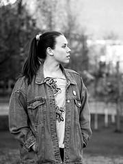 Miriam (livsillusjoner) Tags: monochrome bw blackwhite blackandwhite black white grey contrast outside outdoor norge tromsø troms portrait people