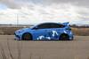 Ford Focus RS on TSW Mosport concave wheels - 5 (tswalloywheels1) Tags: bagged air suspension camo wrap blue ford focus rs mk3 tsw mosport concave aftermarket wheel wheels rim rims alloy alloys