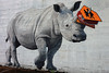 The Collector (Ian Sane) Tags: ian sane images thecollector wall mural joshkeyes forestforthetrees 2015 rhinoceros street signs horn southeast morrison portland oregon canon eos 5ds r camera ef1740mm f4l usm lens