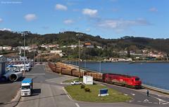 takargo 6001 Ferrol Hafen (OliverHeckmann) Tags: spanien spain tren takargo 6001 euro4000 holzzug woodtrain ferrol comsa güterzug