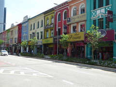 Colourful KL I (m_artijn) Tags: bright sun colour facade color building street kuala lumpur mys shop