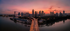 Another sunset (maison_2710) Tags: city cityscape light sunset singapore marina bay skyline aerial road bridge water clouds dji beautiful asia architecture sg