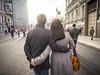 Street (Vitor Pina) Tags: streetphotography urban couple man woman light rua contrast photography moments