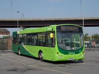 First Huddersfield Volvo B7RLE / Wright SF55 UAL ( 69018 )