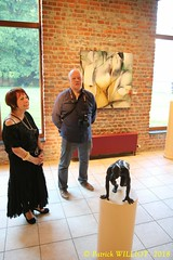 IMG_9410 (Patrick Williot) Tags: exposition vernissage ecuries sculpteur michal peintre genevieve nicolas