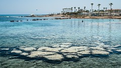 Protaras, Eastern Cyprus. (CWhatPhotos) Tags: cwhatphotos sea water blue stones beach 2018 april digital camera pictures picture image images photo photos foto fotos that have which contain olympus seafront golden coast sky skies sunny day holiday cyprus eastern protaras