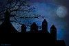 Castle In The Clouds (jade2k) Tags: castle moonlight clouds pa usa silhouette