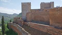 DSCF5548 Alcazaba de la Alhambra, Granada (Thomas The Baguette) Tags: granada spain granadaspain espagne espana alhambra nesrid nesridpalace patiodelosleones lionfountain comares moorish fountains architecture gardens machuca alcazaba