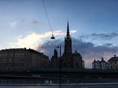 Riddarholmen (brimidooley) Tags: riddarholmen estocolmo stockholm sweden zweden city citybreak travel europe church kirche eglise winter hiver snow neige dusk sverige